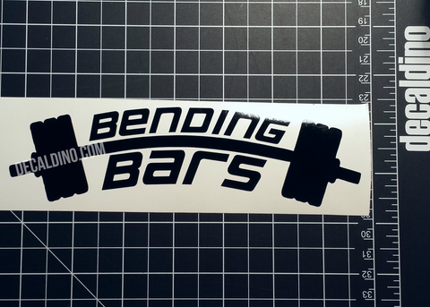 Bending Bars Gym Decal - Broscience Fitness #fit bodybuilding