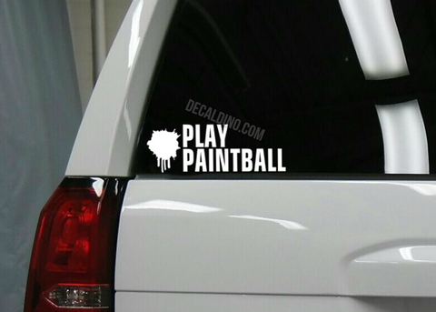 Play Paintball Decal Sticker
