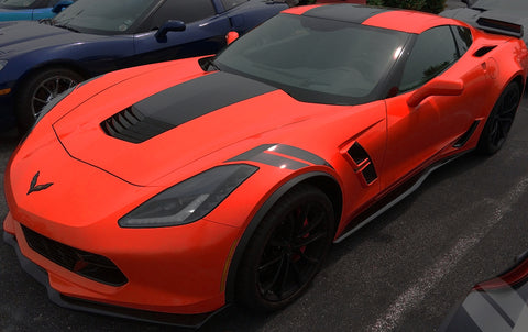 Chevy C7 Corvette Fender Hash Decal Stripes - 2018 2019 2017