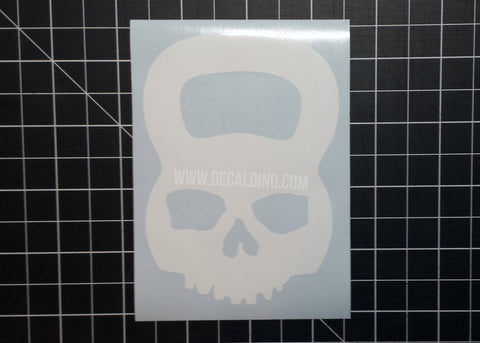 KettleBell Crossfit Skull Decal Sticker - wod pood iron lift fitness