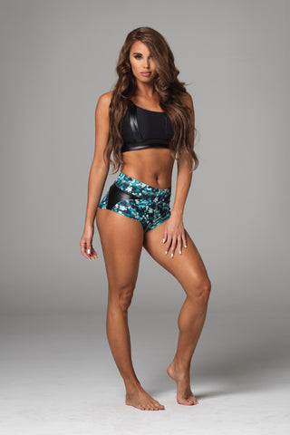 BABY DOLL Hot Pant in Emerald Green
