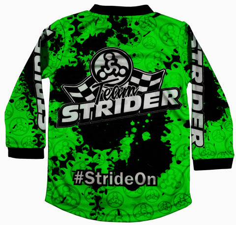 GREEN Sizes 2T 3T 4T 5T 6//7 8//10 Strider Toddler Racing Jersey