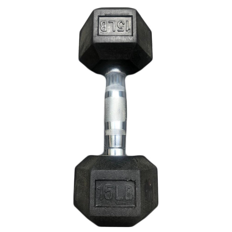 Hex Dumbbells with Rubber Ends  (5lb, 10lb, 15lb, 20lb)