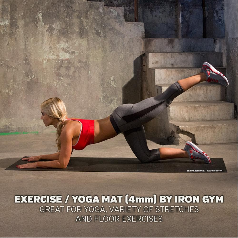 Iron Gym® - Exercise & Yoga Mat with Strap 4mm