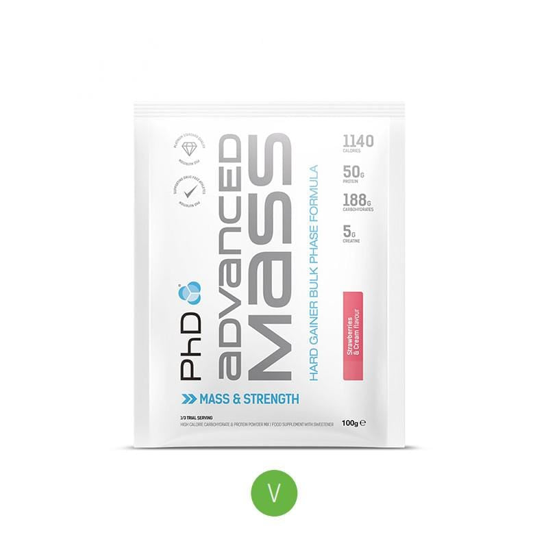 PhD Advanced Mass Sachet (100g) - Strawberries and Cream