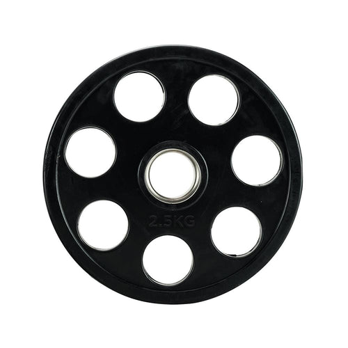 Element Fitness Rubber Plate w/ 7 Holes 2.5-20kg Set