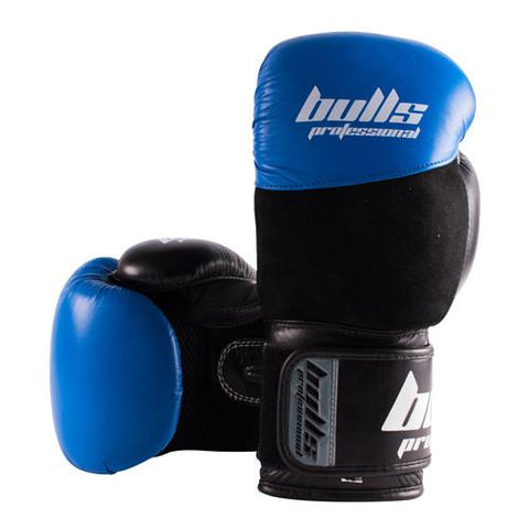 Bulls Professional Elite Boxing Gloves - Blue/Black