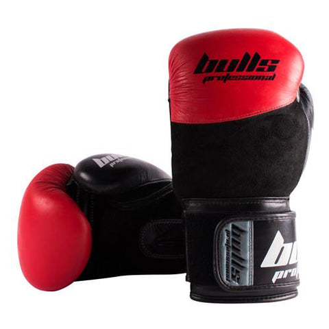 Bulls Professional Elite Boxing Gloves - Red/Black