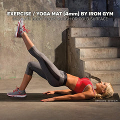 Iron Gym - Exercise & Yoga Mat with Strap 4mm