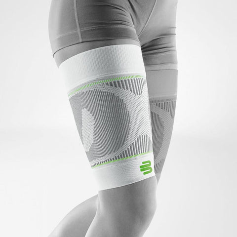 Bauerfeind Compression Sleeves Upper Leg Long - White