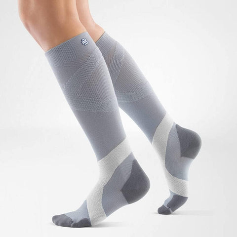 Bauerfeind Compression Socks Ball & Racket 20-30mmHg Long - Silver/Polar