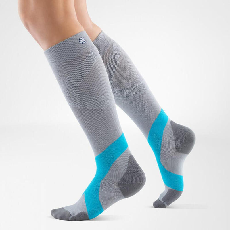 Bauerfeind Compression Socks Ball & Racket 20-30mmHg Long - Silver/Rivera