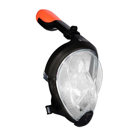 Oceantric Full Face Snorkeling Set - Black (Adult)
