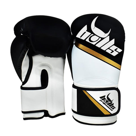 Bulls Professional Classic Boxing Gloves - Black/White