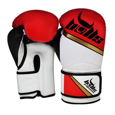 Bulls Professional Classic Boxing Gloves - Red/White