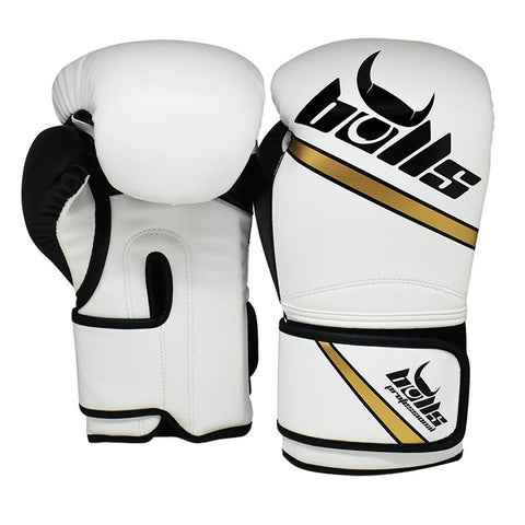 Bulls Professional Classic Boxing Gloves - White