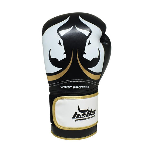 Bulls Professional Elite Boxing Gloves 2.0 - Black/White/Gold