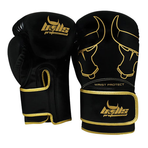 Bulls Professional Elite Boxing Gloves 2.0 - Black/Gold