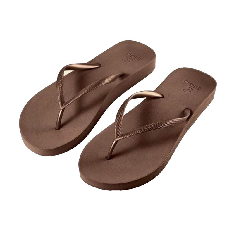 Eego Women's Flip Flops - Brown