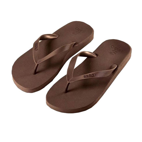 Eego Men's Flip Flops - Brown