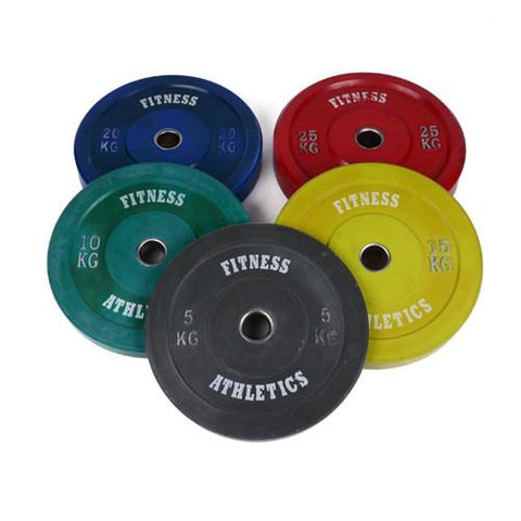Fitness & Athletics Bumper Plates Set - 5-25kg