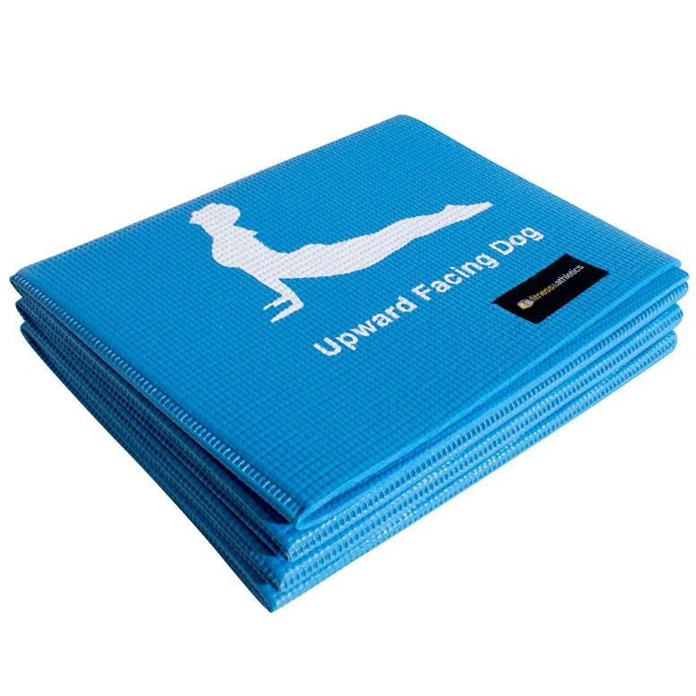 Fitness & Athletics Foldable Yoga Mat - Blue