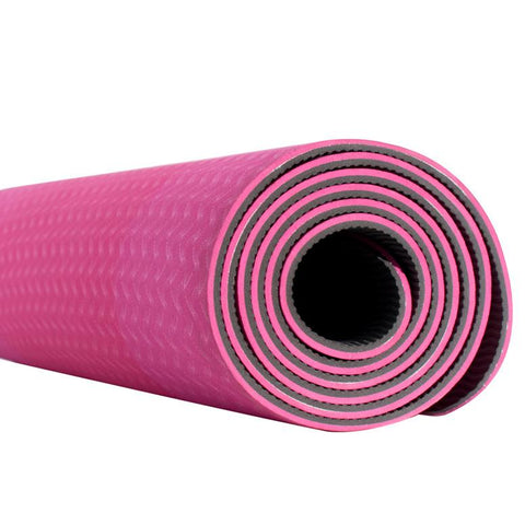 Fitness & Athletics Premium Yoga Mat - Pink/Gray