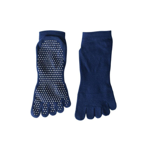 Fitness & Athletics Yoga Grip Socks - Navy Blue