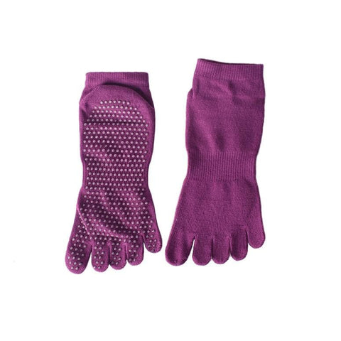 Fitness & Athletics Yoga Grip Socks - Red Purple