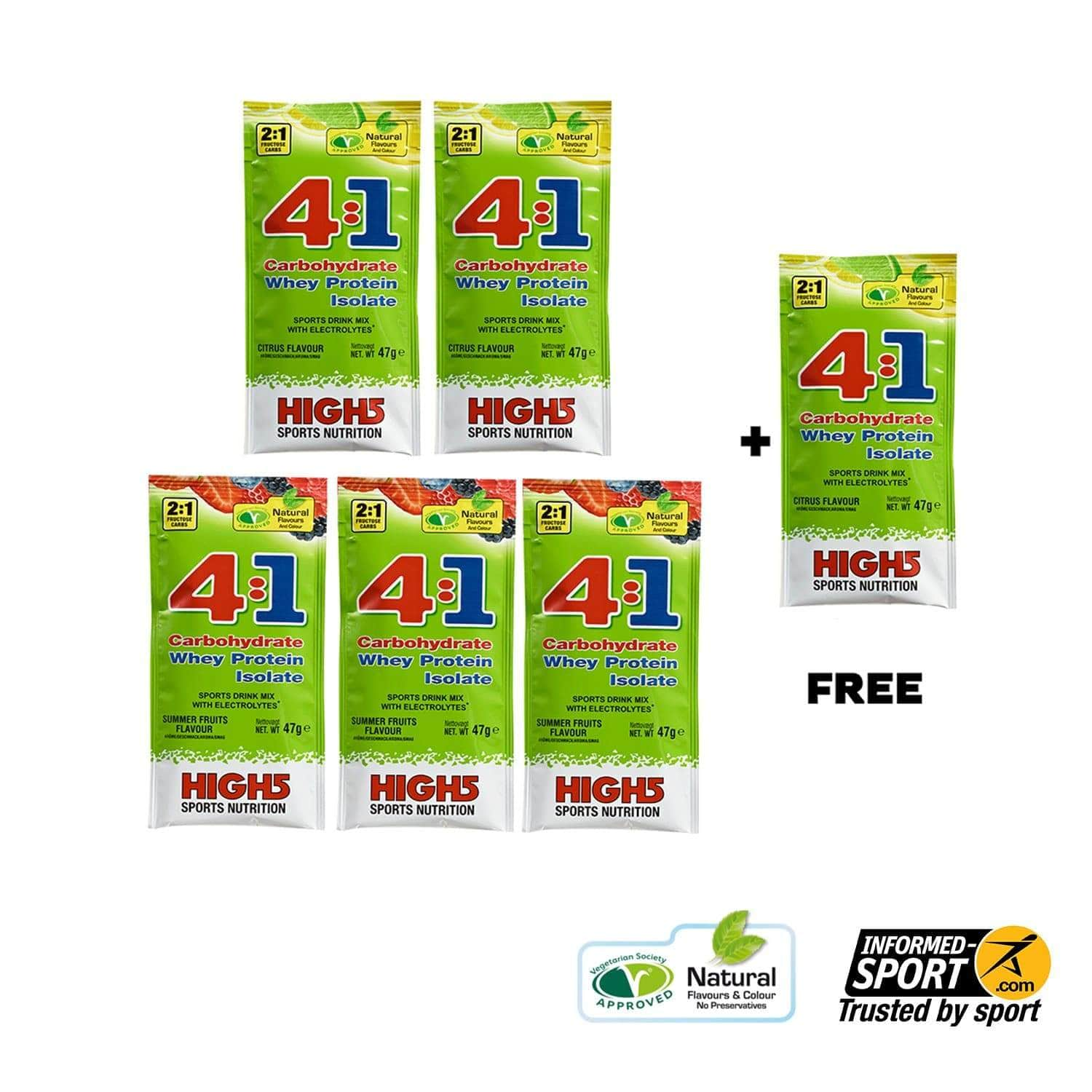 HIGH5 EnergySource 4:1 47g (Buy 5 + Get 1 FREE)