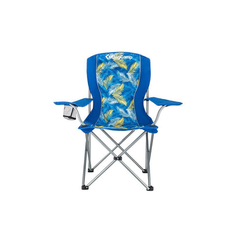 KingCamp Arm Chair in Steel - Palm Blue