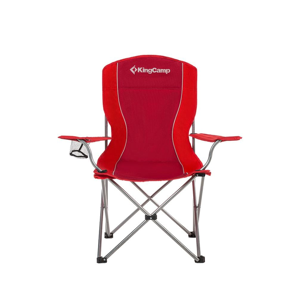 KingCamp Arm Chair in Steel - Red