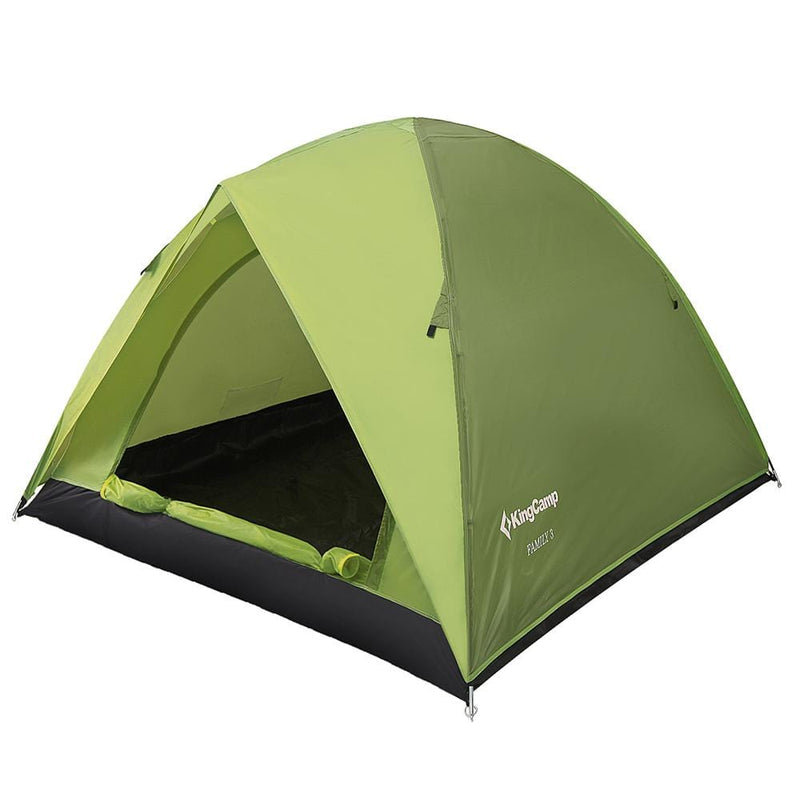 KingCamp Family 3 Roomy Outdoor Tent - Green