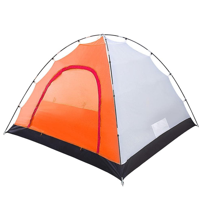 KingCamp Family 3 Roomy Outdoor Tent - Red