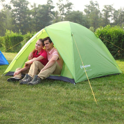 KingCamp Family 2+1 Camping Tent - Green