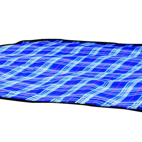 KingCamp Fleece Picnic Blanket - Blue Checkered