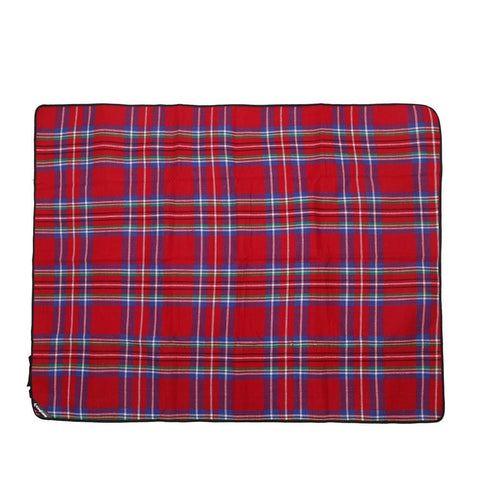 KingCamp Fleece Picnic Blanket - Red Checkered