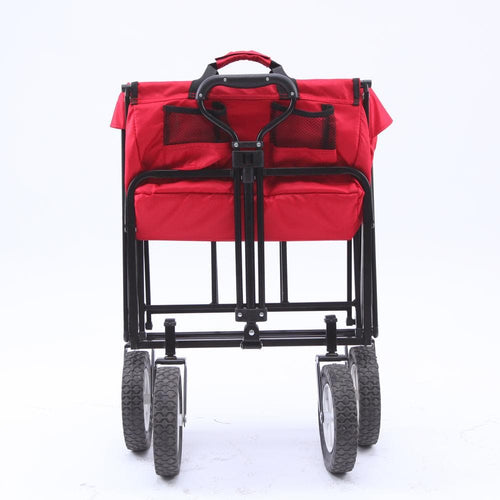 KingCamp Folding Wagon Garden Yard Beach Cart - Red