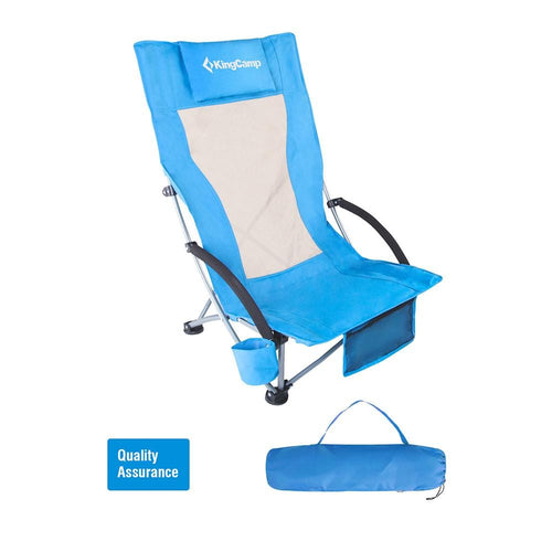 KingCamp High Backed Beach Chair - Blue