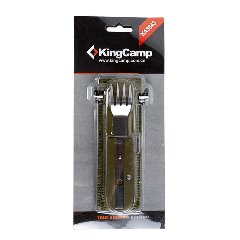 KingCamp Multifunction Stainless Steel Mess Kit - Silver