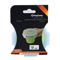 KingCamp Silicone Foldable Cup With Lid - Green