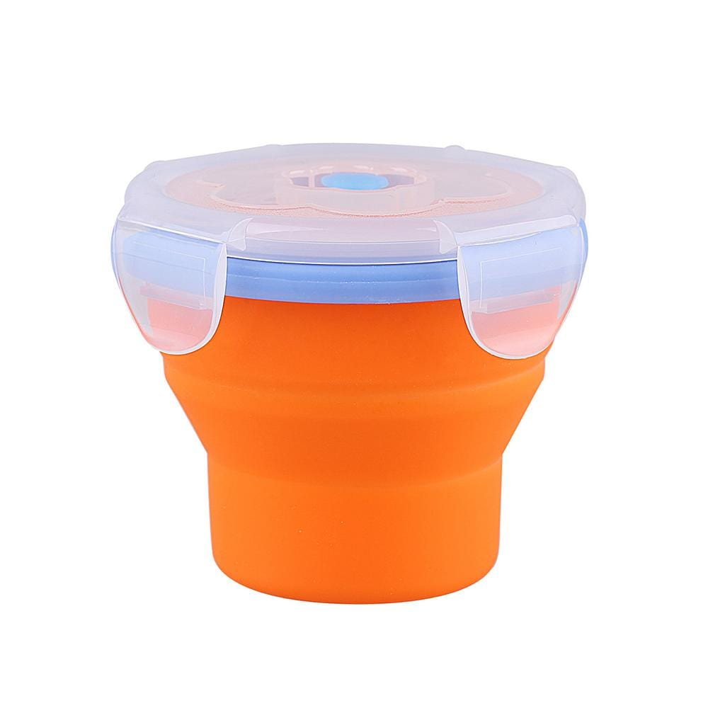 KingCamp Silicone Foldable Cup with Lid - Orange