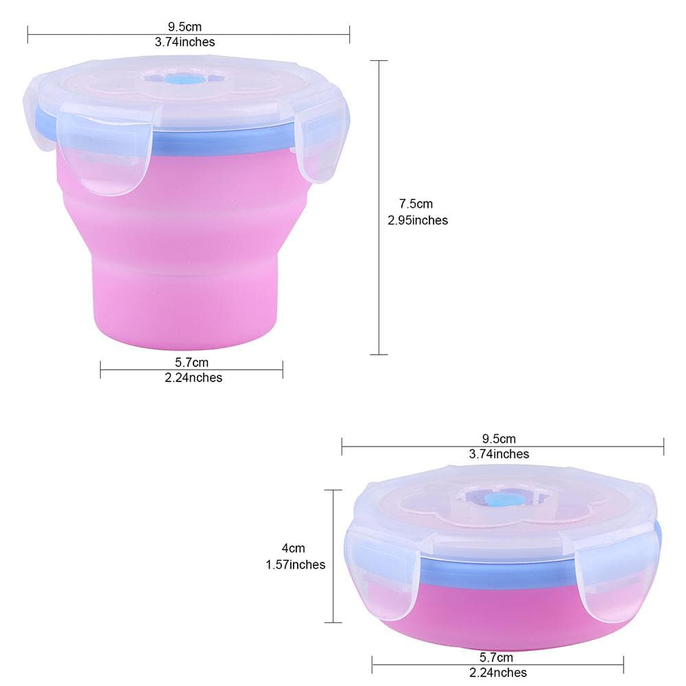 KingCamp Silicone Foldable Cup With Lid - Rose Red