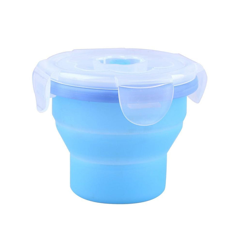 KingCamp Silicone Foldable Cup With Lid - Royal Blue