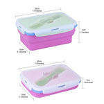 KingCamp Silicone Foldable Lunch Box - Rose Red
