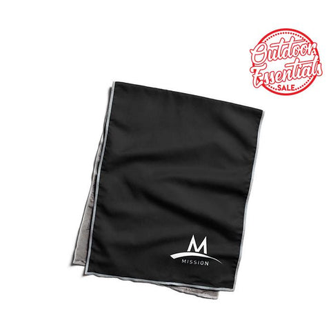 Enduracool Microfiber Cooling Towel - Black Large