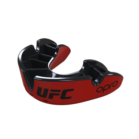 Opro Mouthguard Self-Fit UFC Silver - Red/Black