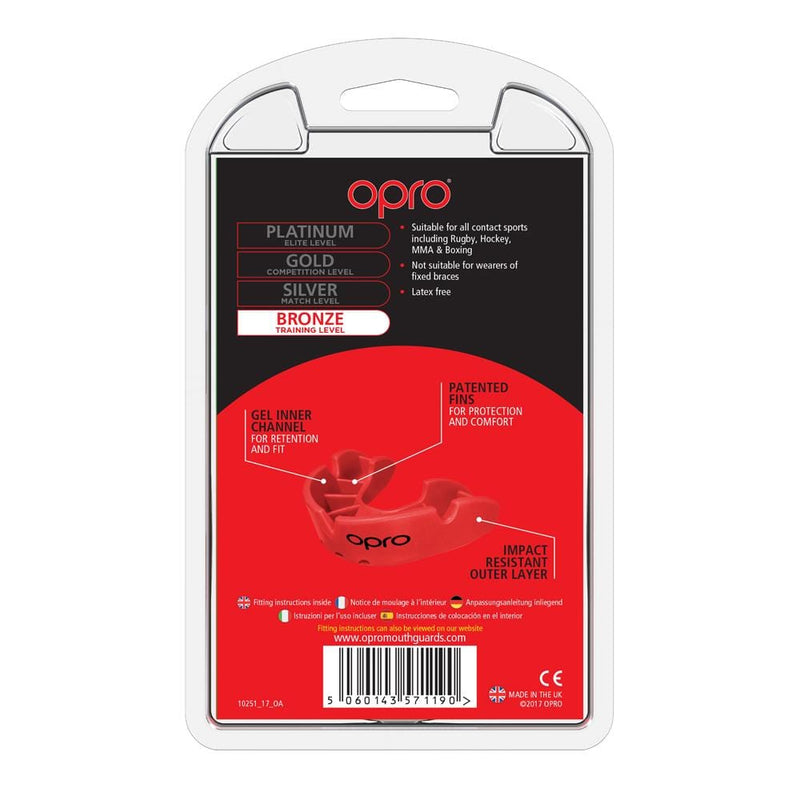 Opro Mouthguard Self-fit Gen 4 Bronze - Red