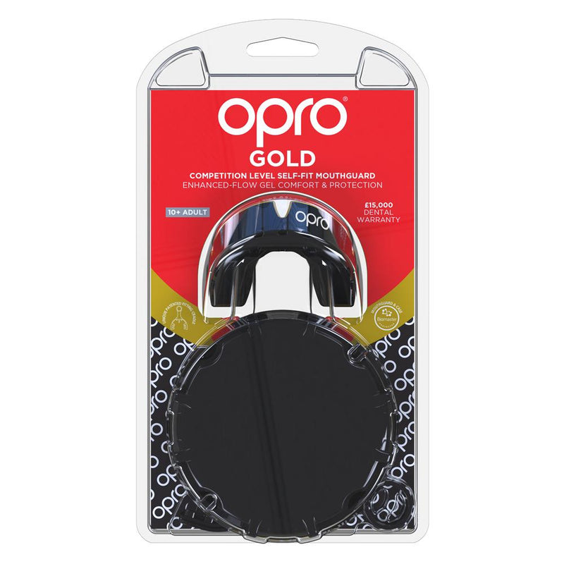 Opro Mouthguard Self-Fit Gen 4 Gold -  Black/Gold