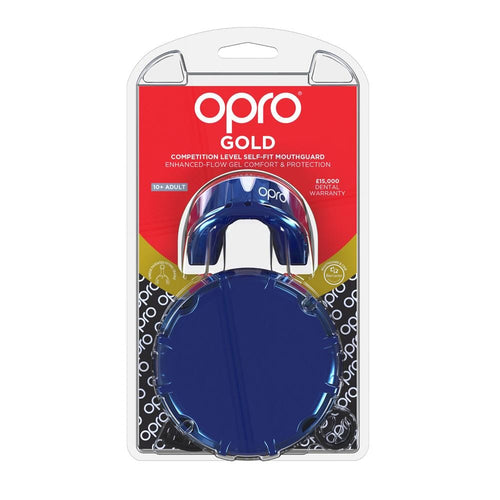 Opro Mouthguard Self-Fit Gen 4 Gold -  Pearl Blue/Pearl